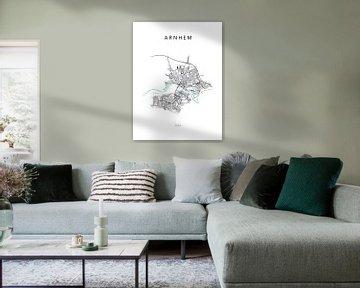 Plattegrond Arnhem van Michel Vedder Photography