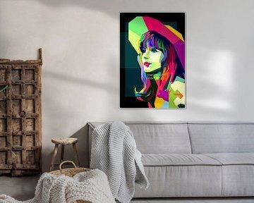 Jacqueline Bisset Pop Art WPAP van Fariza Abdurrazaq