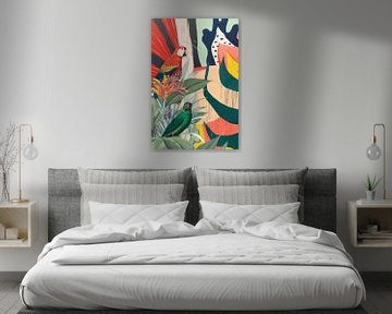 There is Art in Parrots van Marja van den Hurk