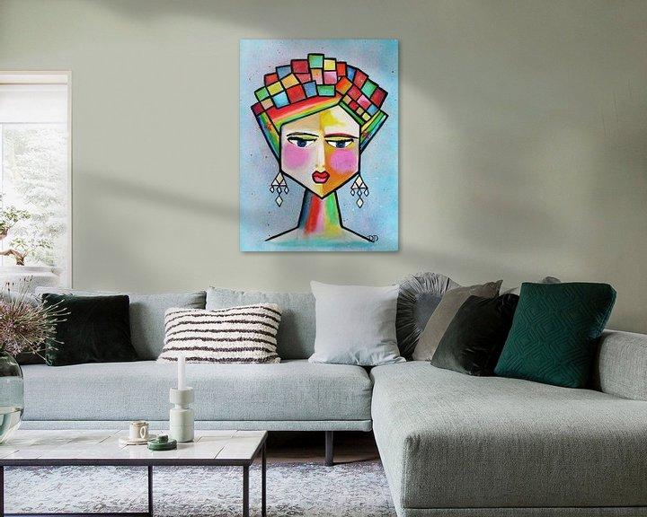 Beispiel: Frida Kahlo Abstrakt von Danielle Ducheine