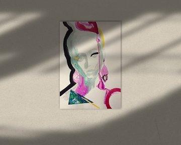 Ein Hauch von Rosa von Helia Tayebi Art
