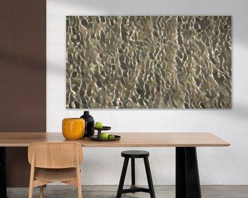 Abstract - Figuratief - Water op Zand met Schittering van de Zon - Schilderij