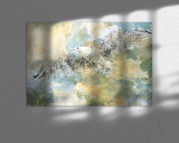 Digital-Art Vanishing Seagull van Melanie Viola