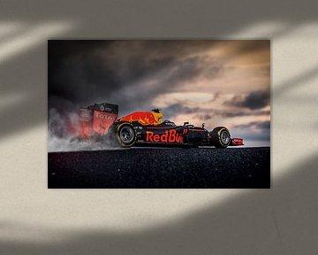 Max Verstappen RB12 - RedBull Racing F1 burnout van Kevin Baarda