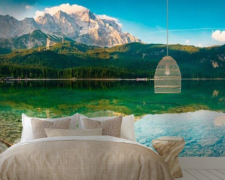 Beispiel fototapete: Eibsee Panorama von Martin Wasilewski