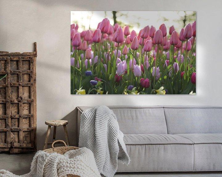 Sfeerimpressie: Tulpen met dauw van Karel Ham