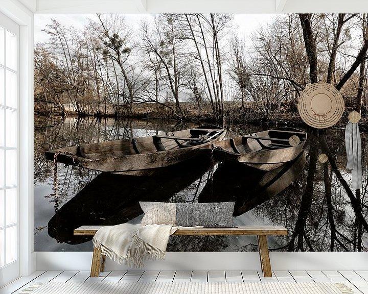 Sfeerimpressie behang: Barge van Norman Krauß