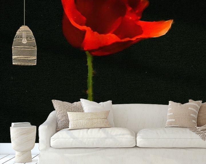 Sfeerimpressie behang: Klaproos schilderij - Rode Klaproos van Christine Nöhmeier