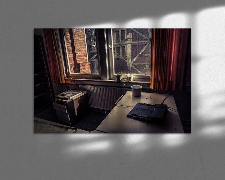 Sfeerimpressie: verlaten kantoor van Franziska Pfeiffer
