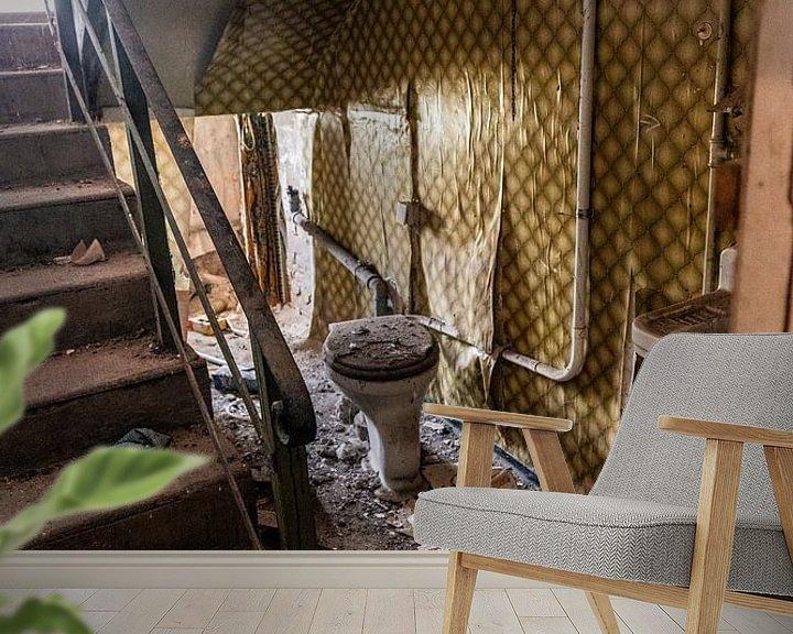 Sfeerimpressie behang: Het toilet in het trappenhuis van Franziska Pfeiffer