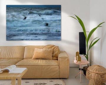 Woeste zee van MSP Canvas