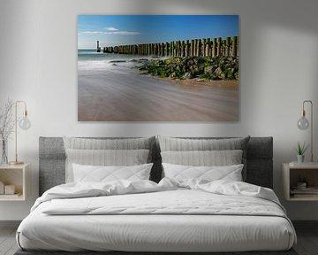 Wellenbrecher Domburg von MSP Canvas