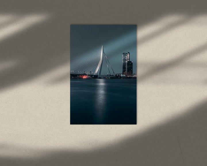 Impression: Pont Erasmus de nuit #1 sur Chris Koekenberg