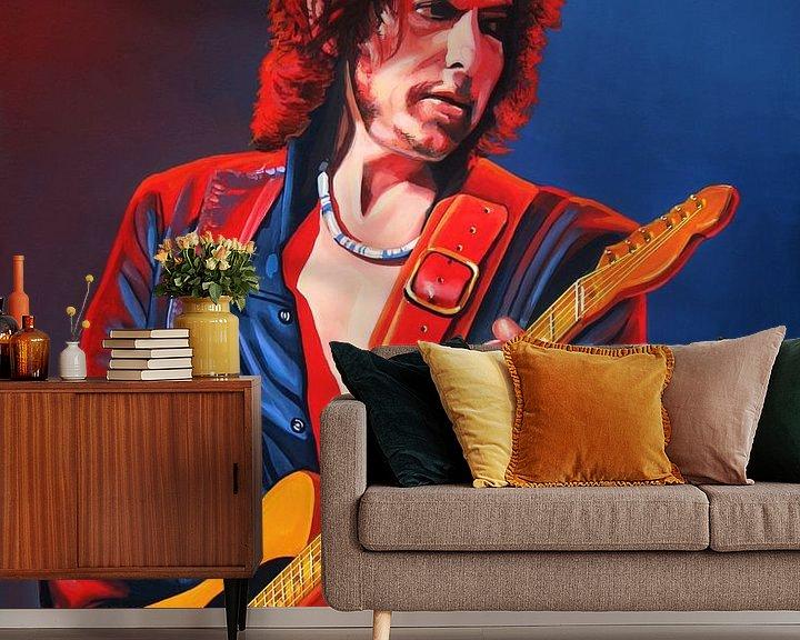 Beispiel fototapete: Bob Dylan Gemälde von Paul Meijering