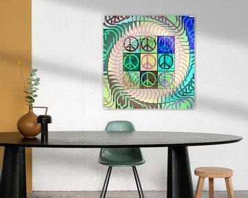 Peace Art in pastels van Nicky`s Prints