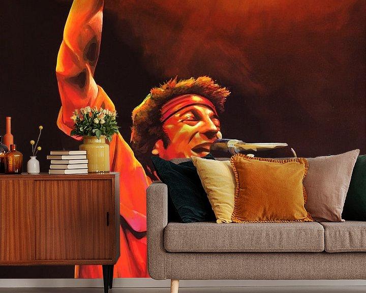 Beispiel fototapete: Bruce Springsteen Painting von Paul Meijering