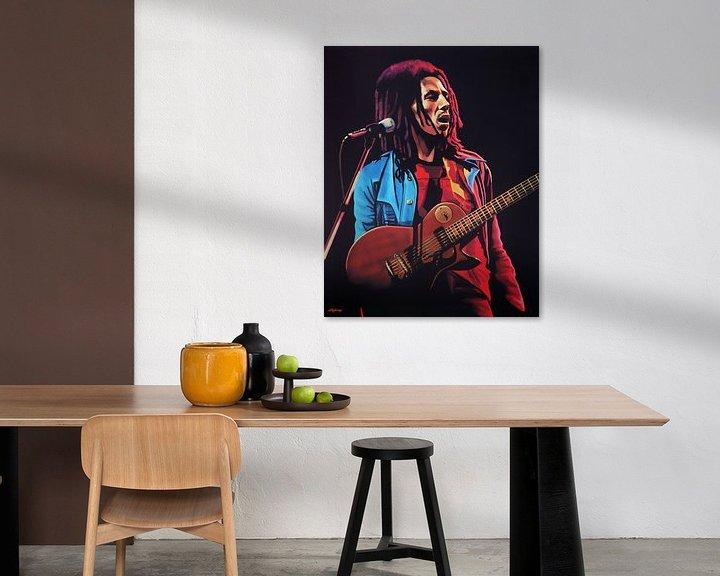 Sfeerimpressie: Bob Marley schilderij van Paul Meijering