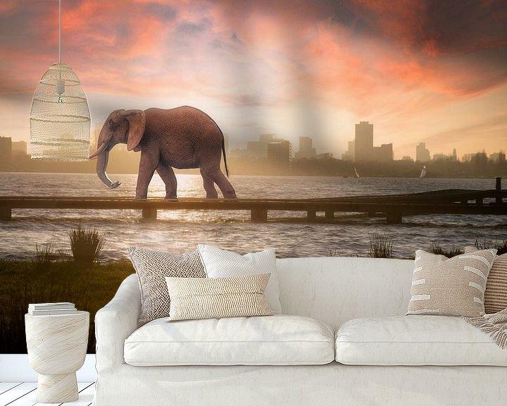 Sfeerimpressie behang: Urban Wild III van Arjen Roos