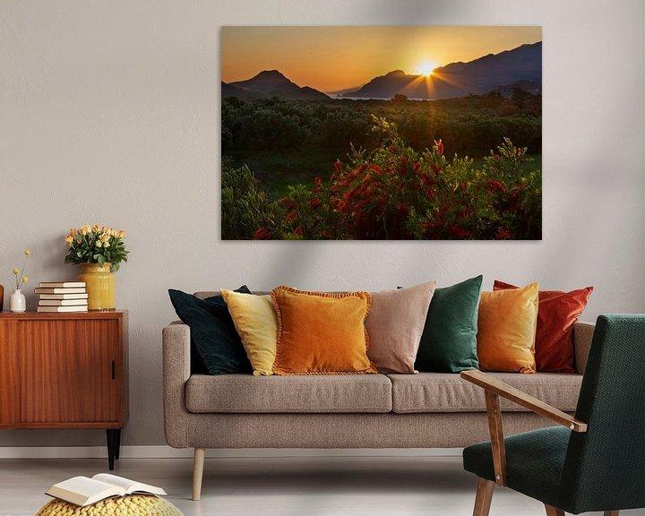 Sfeerimpressie: Kreta zonsondergang van Hans van den Beukel