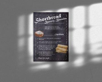 Recipe of Dessert - Shortbread Biscuits van JayJay Artworks
