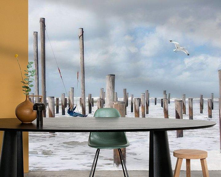 Sfeerimpressie behang: Vrijheid van Piet Haaksma