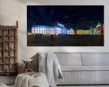 Berlijn Bebelplatz Panorama - 's Nachts in een bijzonder licht