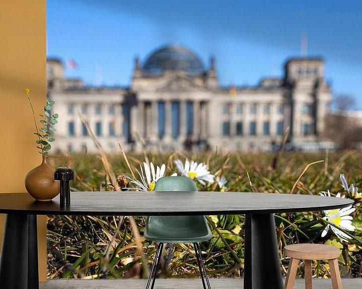 Impression: Pâquerettes devant le bâtiment du Reichstag à Berlin sur Frank Herrmann