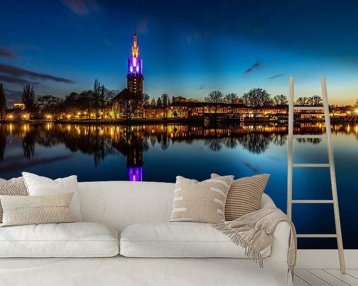 Impression: Ligne d'horizon de Potsdam sur la Havel à l'heure de la construction sur Frank Herrmann