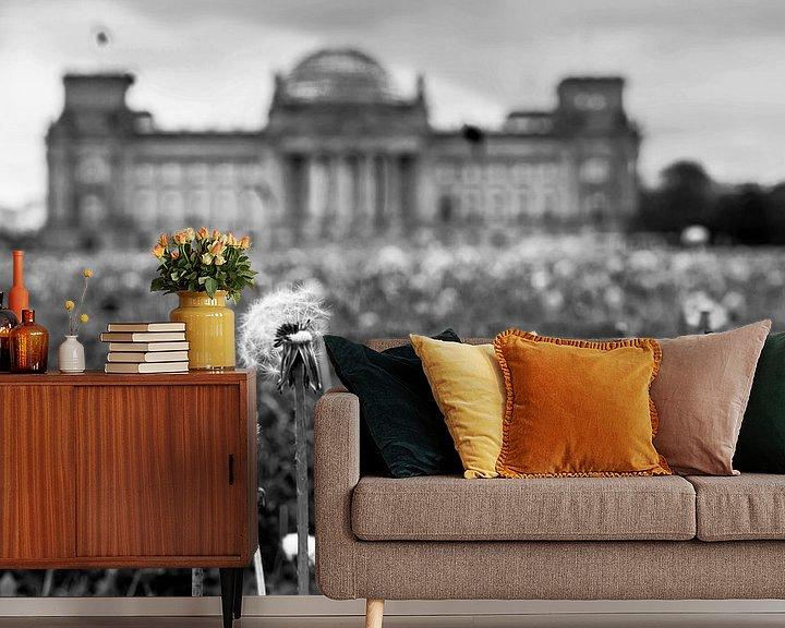 Beispiel fototapete: Pusteblumen vor dem Reichstagsgebäude von Frank Herrmann