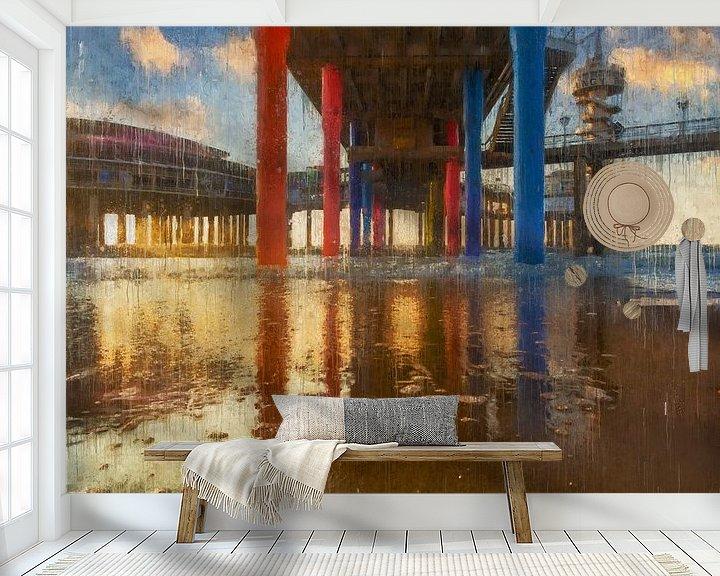 Beispiel fototapete: Unterhalb des bemalten Scheveningen-Piers von Arjen Roos