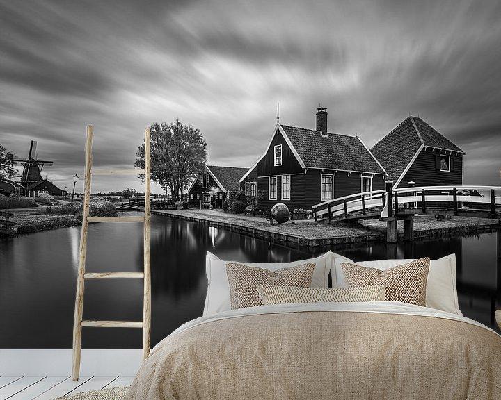 Beispiel fototapete: Ein Abend in der Zaanse Schans, Zaandijk von Henk Meijer Photography