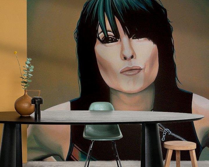 Beispiel fototapete: Chrissie Hynde Painting von Paul Meijering