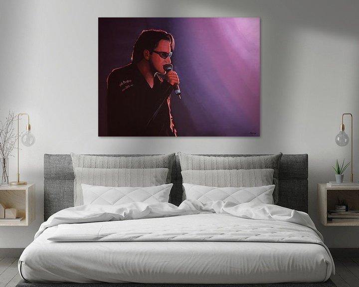 Beispiel: Bono of U2 painting von Paul Meijering