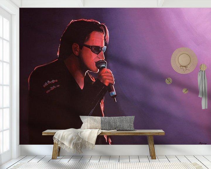 Beispiel fototapete: Bono of U2 painting von Paul Meijering