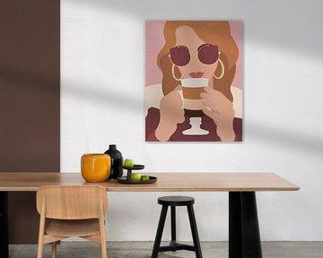 In het cafe, Sarah Leonard van PI Creative Art