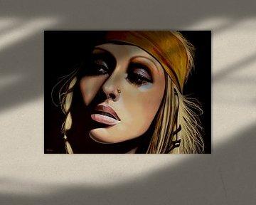 Christina Aguilera schilderij von Paul Meijering