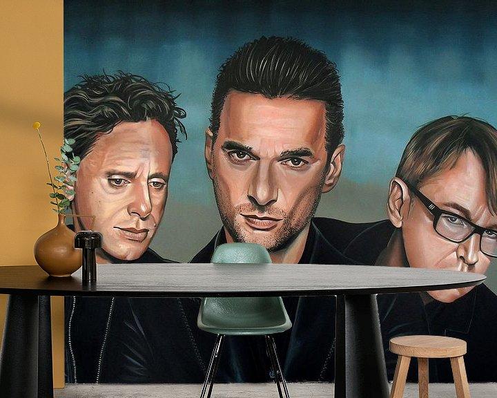 Beispiel fototapete: Depeche Mode schilderij von Paul Meijering