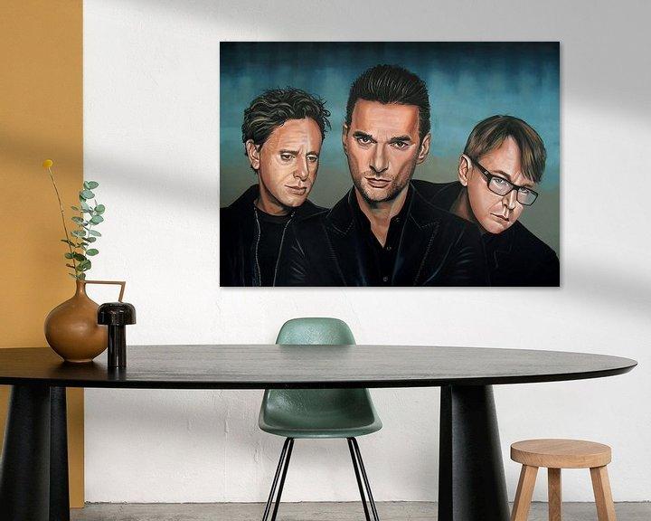 Sfeerimpressie: Depeche Mode schilderij van Paul Meijering