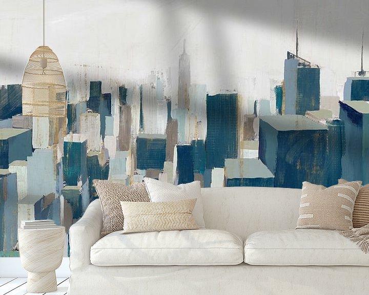 Sfeerimpressie behang: De stad, Isabelle Z  van PI Creative Art