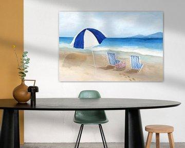 Blauer Sonnenschirm, Isabelle Z  von PI Creative Art