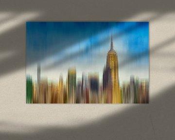 Abstrakte Skyline Manhattan New York