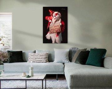 Clown, We are Open van Danny van Kolck