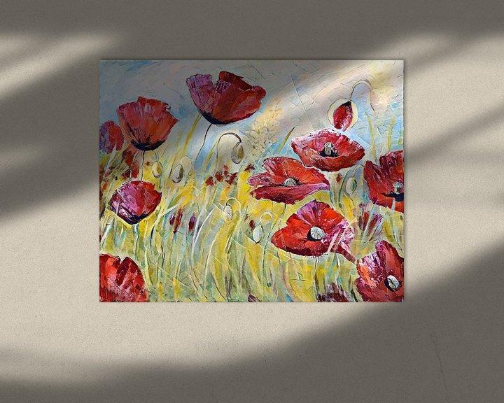 Sfeerimpressie: klaprozen! het is zomer! ( dancing poppies) van Els Fonteine