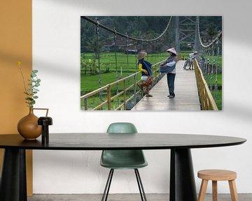 Chat auf der Brücke von Anges van der Logt