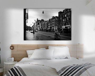 Stadsfotografie De Damrak Amsterdam van Linsey Aandewiel-Marijnen