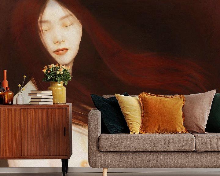 Sfeerimpressie behang: Naakte vrouw in gedachten van Jan Keteleer