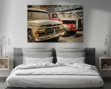 Verlaten Brandweer Wagens van Bjorn Renskers