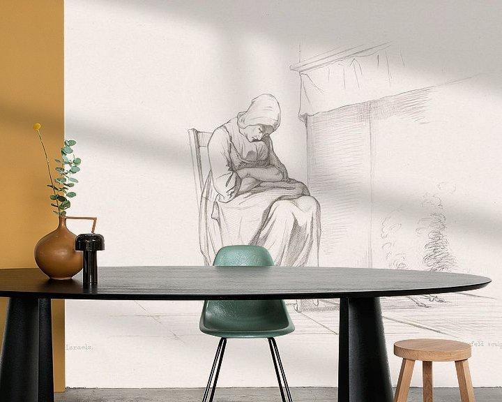 Sfeerimpressie behang: Middagslaapje, Johan Heinrich Rennefeld van Eigenwijze Fotografie