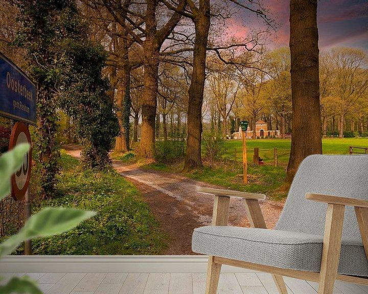 Sfeerimpressie behang: Oosterbeek Erebegraafplaats van Brian Morgan