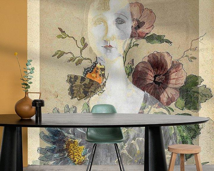 Impression: La fille avec les fleurs sur Gabi Hampe